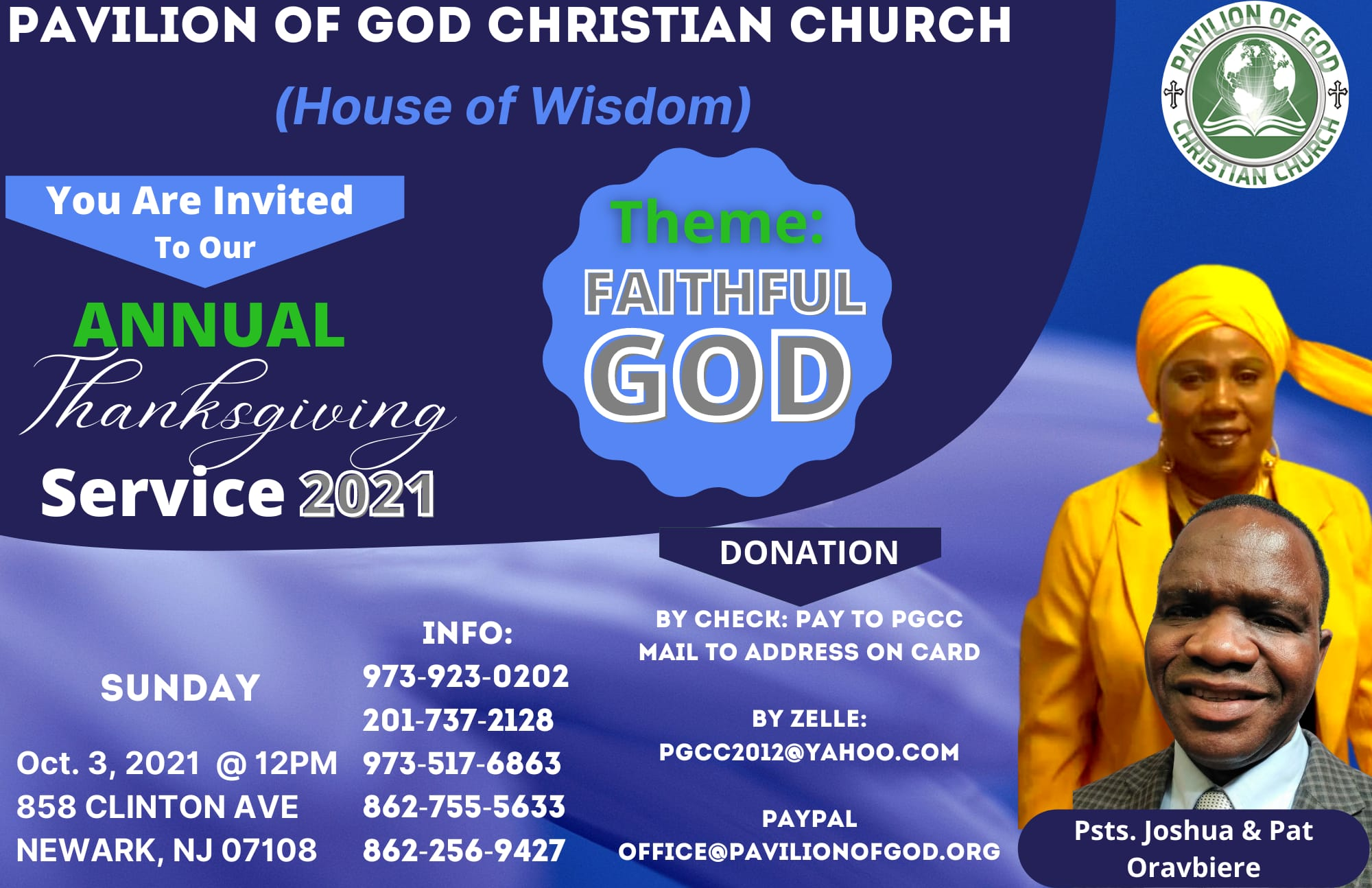 2021 Annual Thanksgiving Service